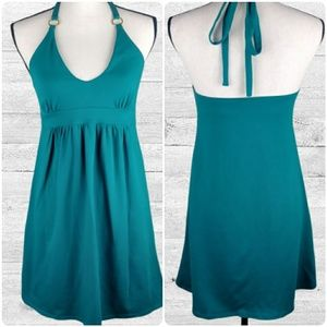 Teal Halter Dress by Victoria's Secret Bra Tops